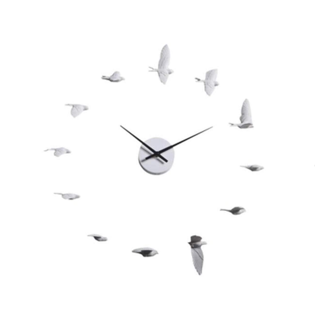 QMPZG-wanduhr wanduhr Weiße Schwalbe Vogel - Kreative Weise Einfach Still Still Still Uhr Zuhause Schlafzimmer Wohnzimmer Büro Uhr 27bc13