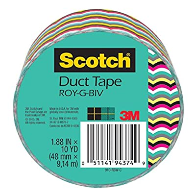 3M Duct Tape, Rainbow, 1.88-Inch by 10-Yard by 3M