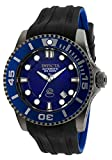 Invicta Men's 'Pro Diver' Automatic Stainless Steel and Silicone Diving Watch, Color:Black (Model: 20204)