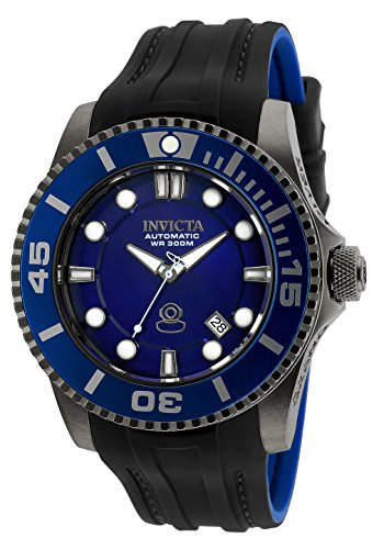 Invicta Men's Pro Diver Stainless Steel Automatic-self-Wind Diving Watch with Silicone Strap, Black, 26 (Model: 20204)