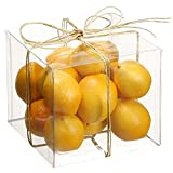 4''Hx4''Wx4''L Artificial Boxed Assorted Lemon -Yellow (pack of 12)