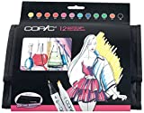 Set Of 12 Classic Copic Markers - Bright Colour Set + 12 Marker Wallet
