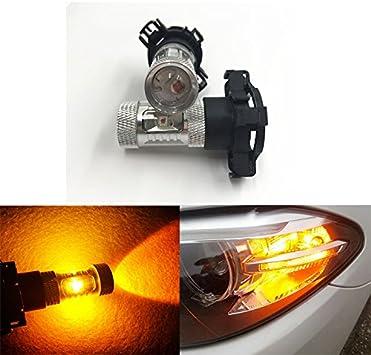 2 Pcs Car Auto 21W Front /& Rear Turn Signal Light Bulbs BAU15s Amber LED Lamp