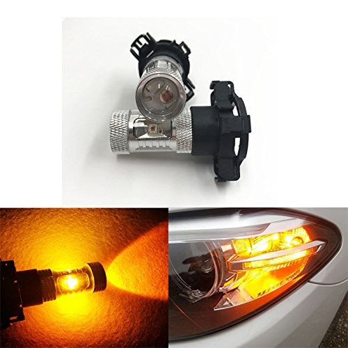 - GFJMC 2 PCS Amber Yellow Error Free CREE PY24W 5200s High Power LED Bulbs Turn Signal Bulb For BMW E90/E92 3 F10/F07 5 Series E83/F25 X 3 E70 X 5 E71 X 6 Z4