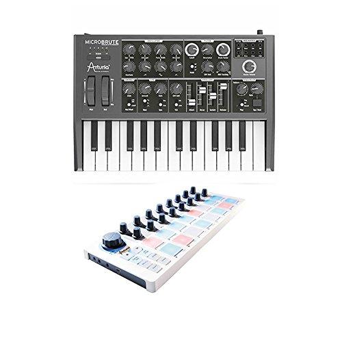 Arturia MicroBrute Mini Analog Synthesizer Beatstep MIDI Controller by Arturia