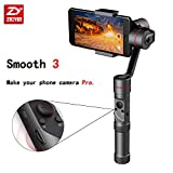 Zhiyun Smooth 3 3-Axis Handheld Gimbal for Smartphone(Max.6'') like iPhone X 8 plus 7+ Gopro 3 / 4 / 5 14hrs Runtime Real-Time Control Exposure Compensation ISO White Balance Shutter Speed Focusing W
