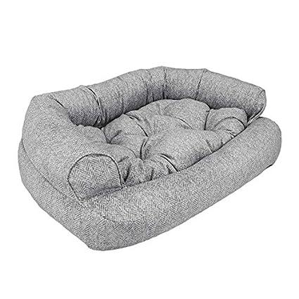 Wondrous Snoozer Luxury Overstuffed Microsuede Pet Sofa Download Free Architecture Designs Fluibritishbridgeorg