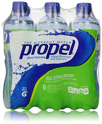 Propel Water Kiwi Strawberry Flavored Water With Electrolytes, Vitamins and No Sugar 16.9 Ounces (Pack of 6) by...