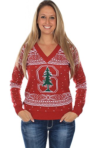 Women's Stanford University Sweater - Officially Licensed Stanford Cardinal Christmas Sweater