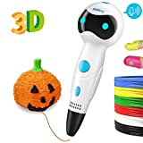 Nulaxy 3D Pen, First Robot 3D Drawing Printing Pens with Voice Prompt, LED Indicator, 3 Adjustable Speeds, 6 Colors PLA Filament Refills and Stencil Safe for Kids Adults Arts Crafts Model DIY