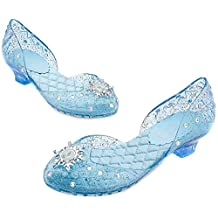 Disney Store Frozen Princess Elsa Light up Shoes Costume Slippers Kids Shoe Size 9-10