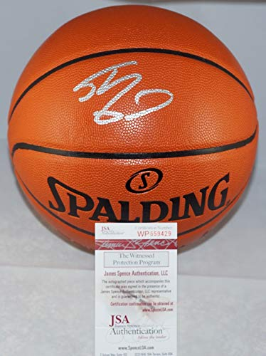 Shaquille O'Neal Los Angeles Lakers Signed Autograph NBA Game Basketball JSA Witnessed Certified