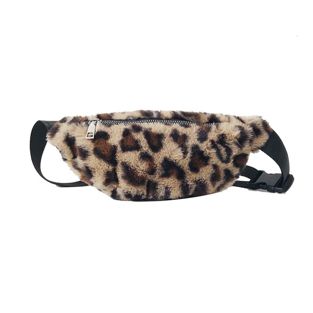 sunersty Women Fanny Pack Phone Pouch Leopard Waist Bum Belt Bag Shoulder Crossbody Pocket Purse
