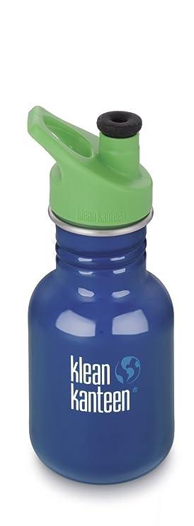 Klean Kanteen Botella de Acero Inoxidable para Niños con Tapa antigoteo