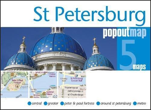 St Petersburg PopOut Map (PopOut Maps)