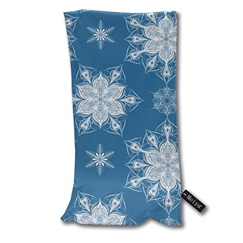 (Depart-Lily Victorian Snowflakes Bath Towel Hand Towel for Beach,Travel,Swim,Pool,Camping,Outdoors Sports Towel - 11.8x27.6inch)