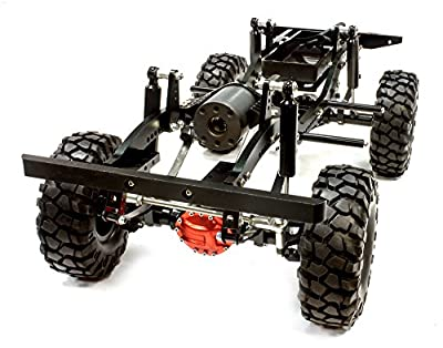Integy RC Hobby C25759BLACK Billet Machined 1/10 Type D90 Roller 4WD Off-Road Scale Crawler ARTR