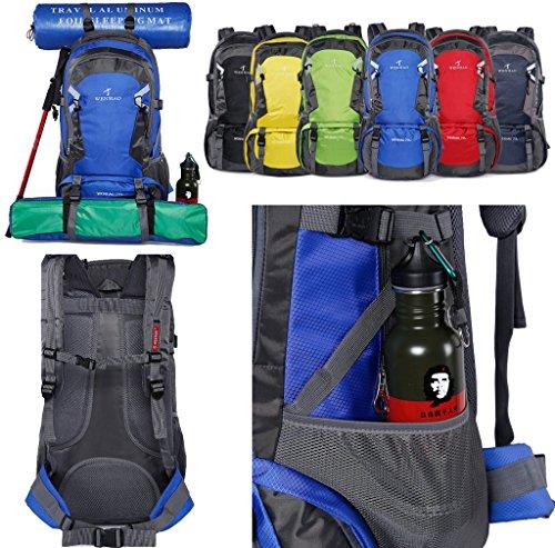 70 Bagaglio Zaino Donna Verde Super Blu Scuro Bag Unisex Uomo Bambino Di Nylon In Grandi Campeggio L Dimensioni Impermeabile Trekking Moderno wPAP1qZnv