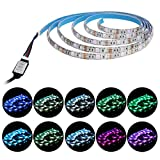 Waterproof USB LED Strip Lights, LANIAKEA Multi Color RGB Light Strip, 78 inch Bias Lighting for Flat Screen TV LCD, LED TV Backlight, Desktop PC Monitor, Home Theater and Outdoor Event