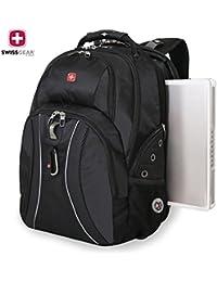 "SwissGear Laptop Notebook Mac Book iPad Swiss Gear Swissgear 17"" inch Outdoor ScanSmart Backpack - Premium High Quality -New Scale Only- Black"