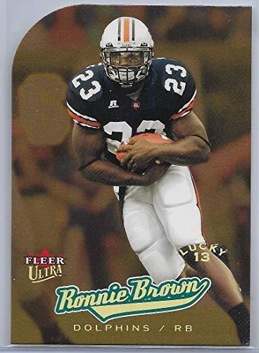 2005 Fleer Ultra Football Ronnie Brown Lucky 13 Gold Medallion Die Cut Rookie Card