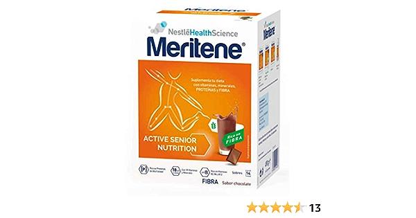 Meritene® FUERZA Y VITALIDAD - Suplementa tu nutrición y refuerza tu sistema inmune con vitaminas, minerales y proteínas - FIBRA Batido Chocolate - ...