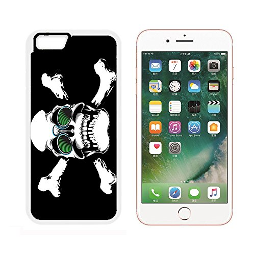 Case for iPhone 6S,Printing On T-Shirt Skull Glasses Pince-Nez Blind (White) iPhone 6/6S (4.7 inch)