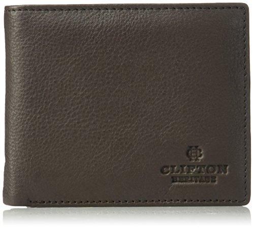 Clifton Heritage Mens Leather RFID Blocking Bifold Wallet