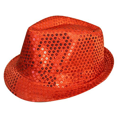 TOOGOO(R) Sequin Trilby Hat Top Hat Fancy Dress Party Hen Stag Night Dance Theatre Shows, (Cabaret Themed Costumes)