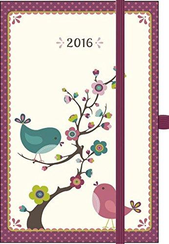 Premium Timer Small Vögel 2016: Buchkalender mit hochwertiger Folienveredelung und Prägung