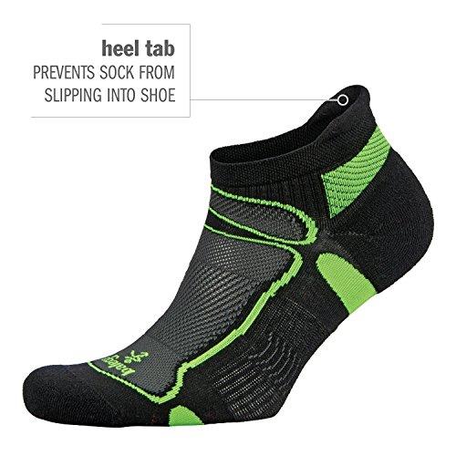 Balega Ultralight No Show Athletic Running Socks for Men and Women (2017 Model), Grey/White, Small