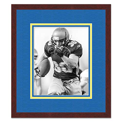 (Sports Frames University of Notre Dame Black Wood Frame with Fighting Irish Triple Mat Colors - Made to Display 5