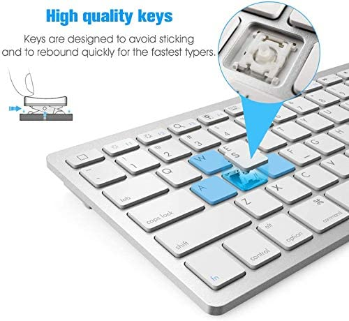 Bluetooth Keyboard And Mouse Combo Wireless Keyboard And Mouse For Ipad Pro Ipad Air Ipad Ipad Mini Iphone Ipados 13 Ios 13 And Above Silver Newsopener