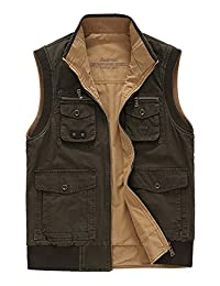 Micmall Men's Outdoors Photo Safari Travels Sports Vest Tops (Reversible Wear vest)