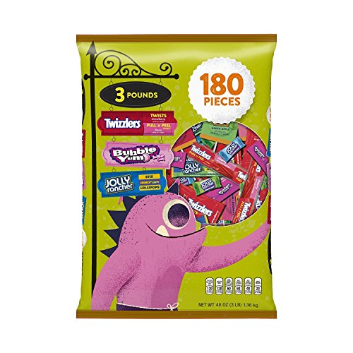 HERSHEY'S Halloween Snack Size Assortment (48-Ounce Bag, 180 Pieces) (Bag Of Candy)