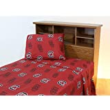South Carolina Gamecocks Sheet Set Collegiate Red Queen Bed