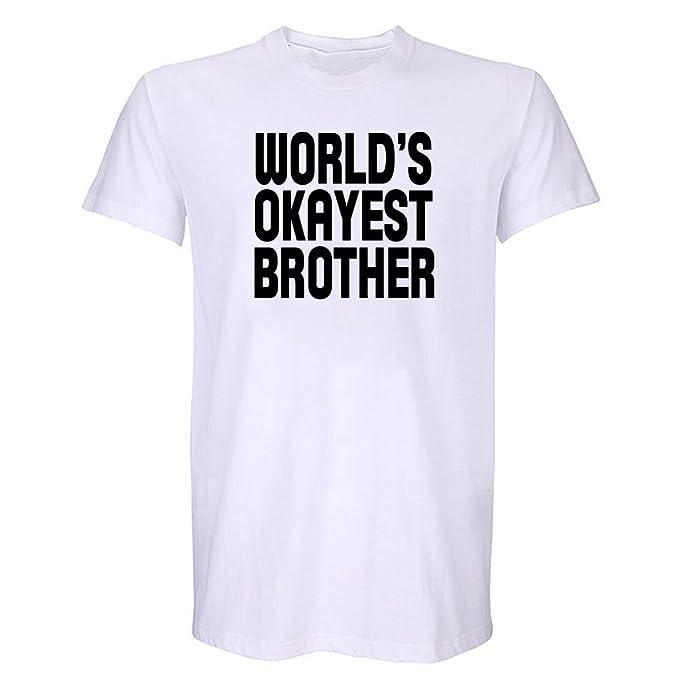 OKnown Worlds Okayest Brother Mens T Shirt Boyfriend Husband Birthday Gift Shirts