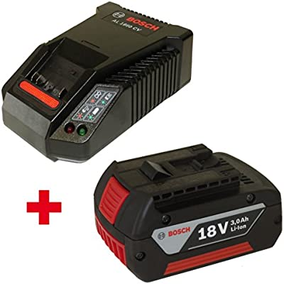 2 Power Pack 1 x Bosch batería 18 V 3 Ah Li-Ion 2607336235 + 1 x Cargador AL1860CV 2607225321: Amazon.es: Bricolaje y herramientas