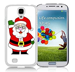 Personalized Hard Shell Samsung S4 TPU Protective Skin Cover Santa Claus White Samsung Galaxy S4 i9500 Case 24