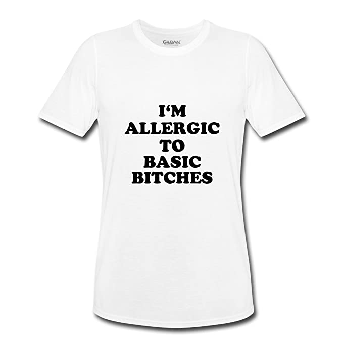 Pirata Zero Nueva llegada I m Allergic To Basic Bitches Blanco Camiseta para hombre
