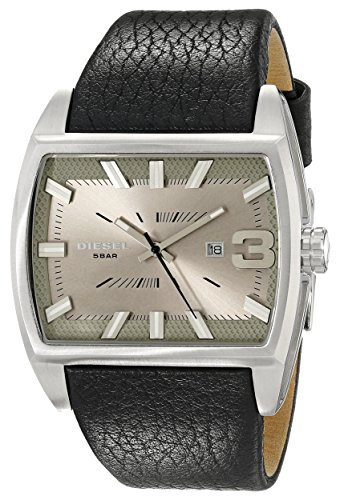 Diesel Men's DZ1674 Starship Stainless Steel Watch With Black Leather Band