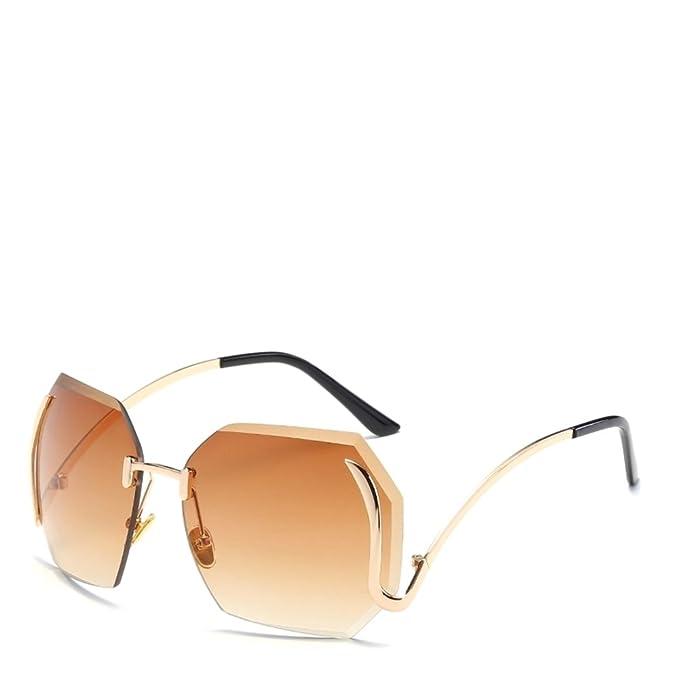 weiwei Gafas de sol sin marco personalizados Las señoras ...