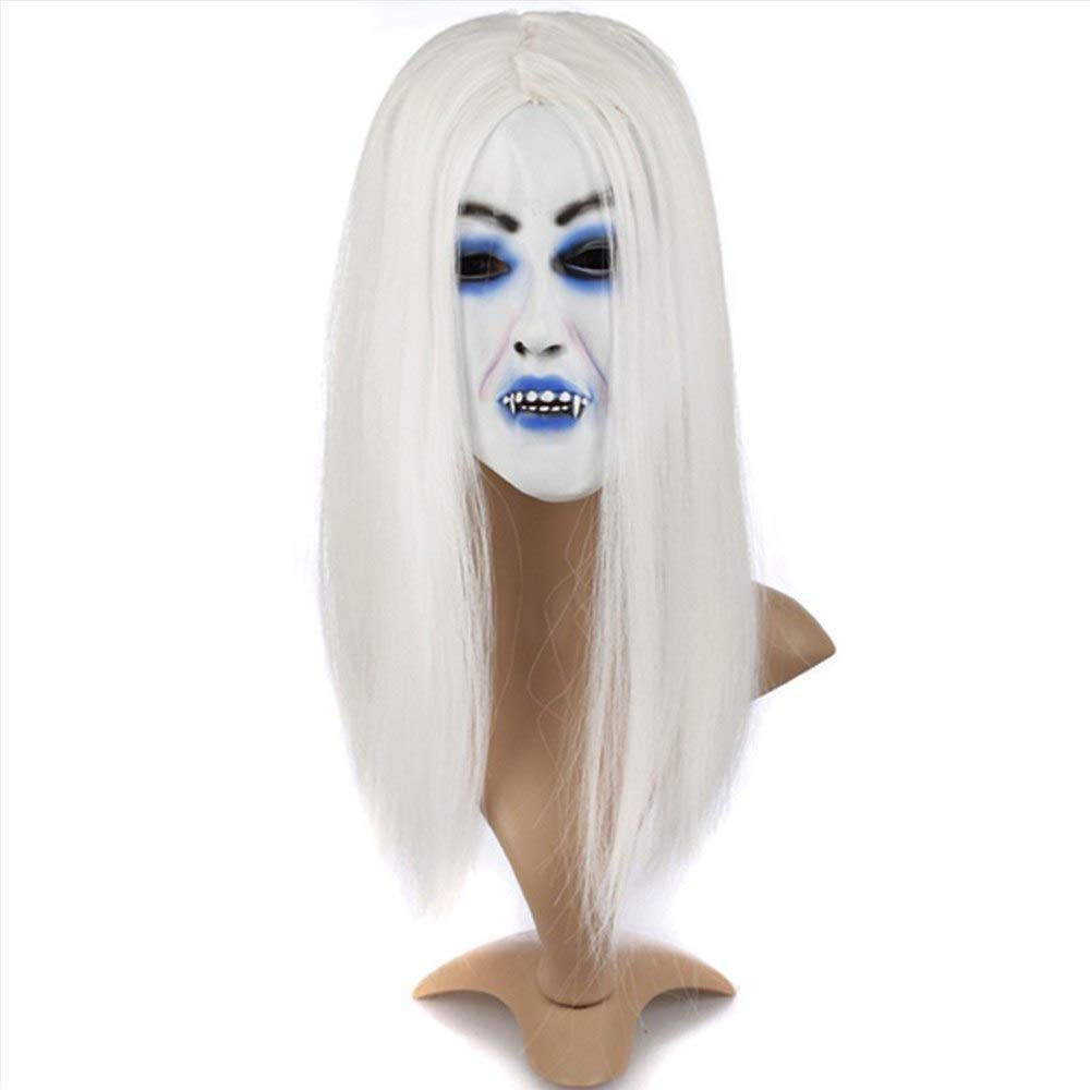 Costume Props Costumes & Accessories Halloween Party Cosplay Scary Ghost Face Mask Halloween Toothy Zombie Bride With Black Hair Horror Ghost Head Mask Toy