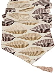 Merveilleux Elegant Leaf Jacquard Table Runners LivebyCare For Home Decorative Coffee  Table 13 X 48 Inches Polyester