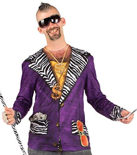 Adult Faux Real Sublimation Big Pimpin' Purple Pimp Suit Costume T-Shrit Tee ()