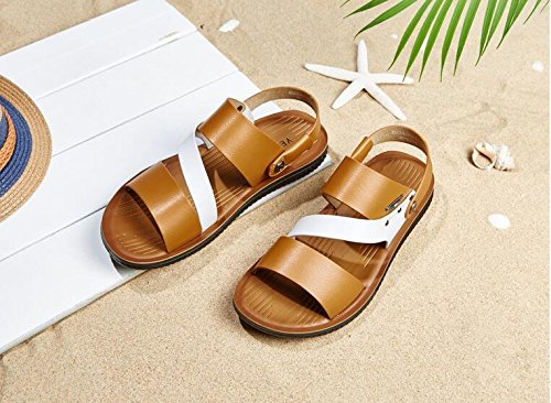 LQV Männlichen Sandalen Sommer Neue Atmungsaktive Hausschuhe Weiche Sohle Strand Strand Strand Schuhe für Outdoor Wandern e331b9