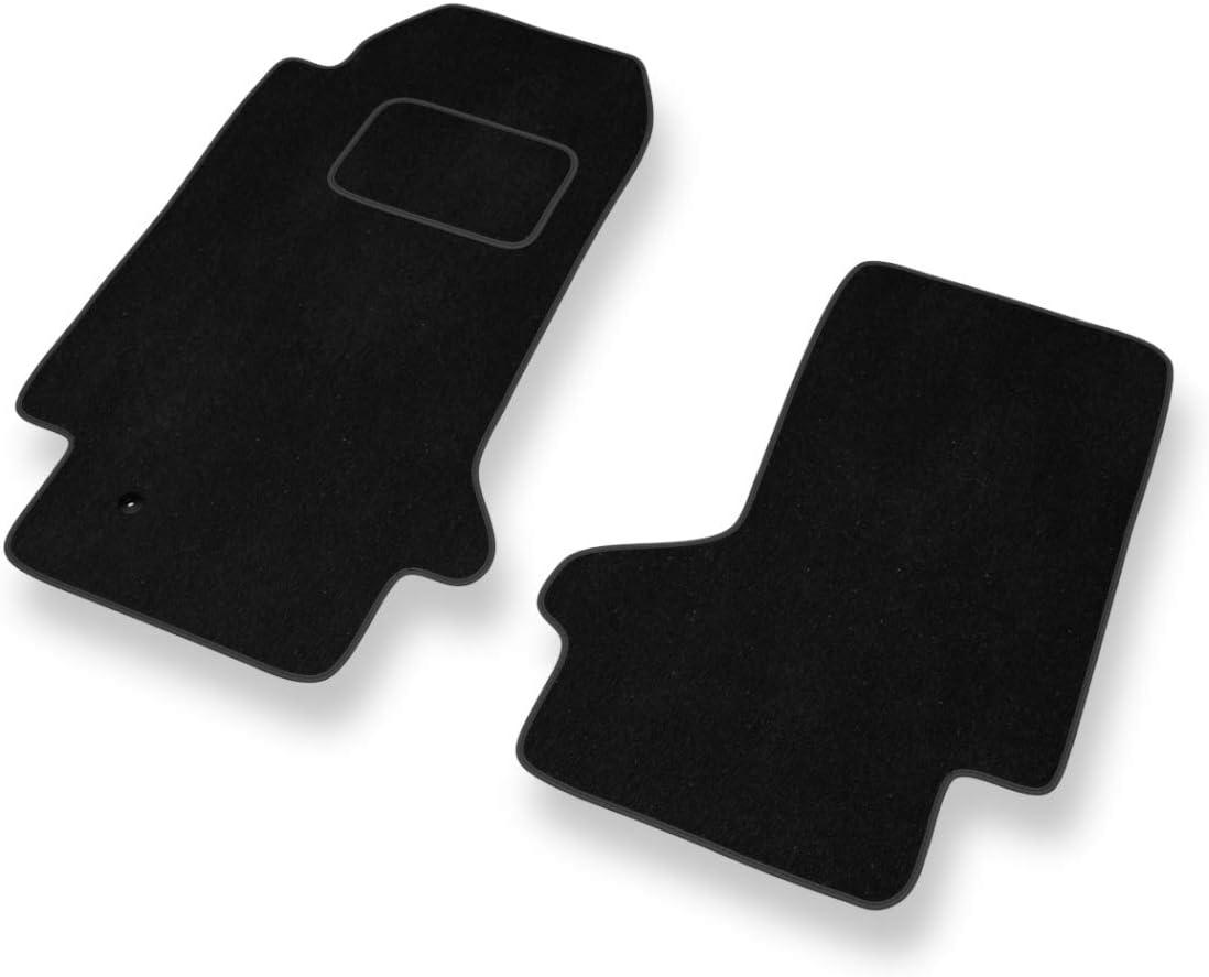 2 Piezas Negro Mossa Premium Alfombrillas de Velour 5902538768122