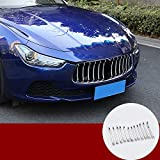 HOTRIMWORLD ABS Chrome Front Center Grille Grill Grid Molding Trim Cover 12pcs for Maserati Ghibli 2014-2017