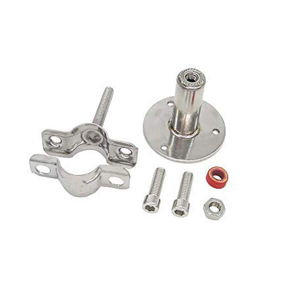 Pipe Tube Stainless Steel Wall Mount Ceiling Mount Pipe Supports 2pcs Adjustable Pipe Bracket Clamp Pipe Straps with Screws for Dia 25mm 3//4-inch