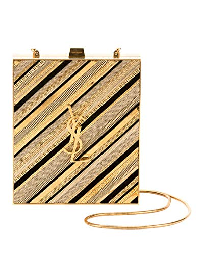 Saint Laurent Tuxedo Monogram YSL Chain-Detail Box Minaudiere Clutch Bag   Handbags  Amazon.com bf8cb5b7126dc